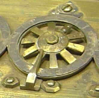 Pascal's calculator - Input wheel