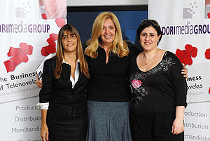 Patricia Maldonado - Patricia maldonado (in the middle) with Celina Amadeo and Michal Nashiv