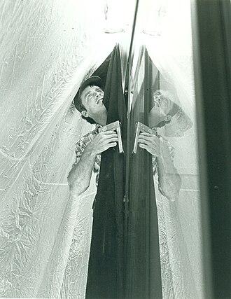 Gaffer (filmmaking) - Gaffer Patrick Shellenberger in a production photograph on the set of Dim Sum: A Little Bit of Heart