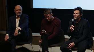 Patriot (TV series) - Actors Terry O'Quinn and Michael Dorman and screenwriter Steve Conrad discuss Patriot for New America in 2017.