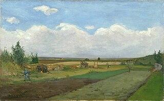 Traveaux des champs dans la plaine