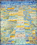 Paul Klee, Hauptweg und Nebenwege, 1929, Öl auf Leinwand, 83,7 x 67,5 cm, Museum Ludwig 1976