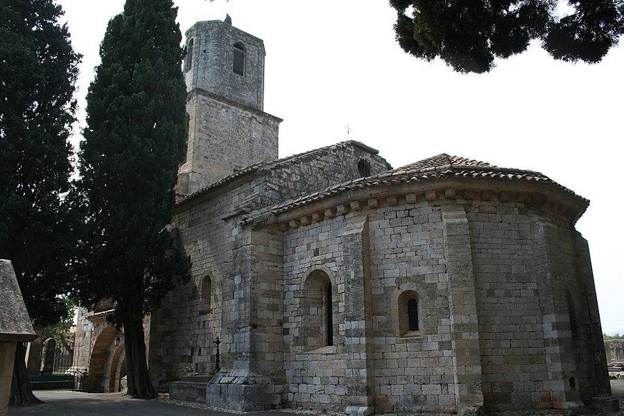Paulhan (Hérault) - Chevet de l'église Notre-Dame des Vertus.