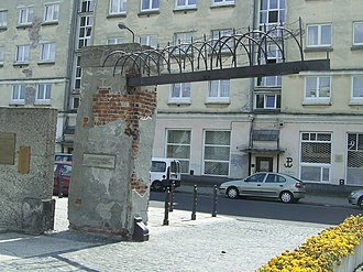 "Museum of Pawiak Prison - Surviving fragment of the prison gate ""Pawiak"""