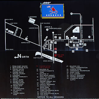 Pawnee Agency and Boarding School Historic District - Map of the Boarding School Historic District
