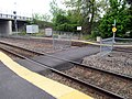 Pedestrian crossing at Wilmington station, May 2016.JPG