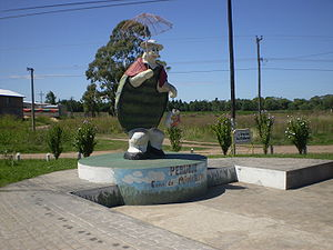 "Pehuajó - The statue of ""Manuelita"" the turtle."
