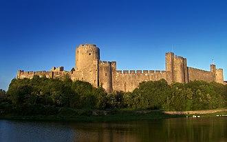 Pembroke, Pembrokeshire - Pembroke Castle and the Pembroke river