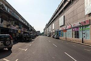 Donggongon - Donggongon town with Mega Long Mall (right).