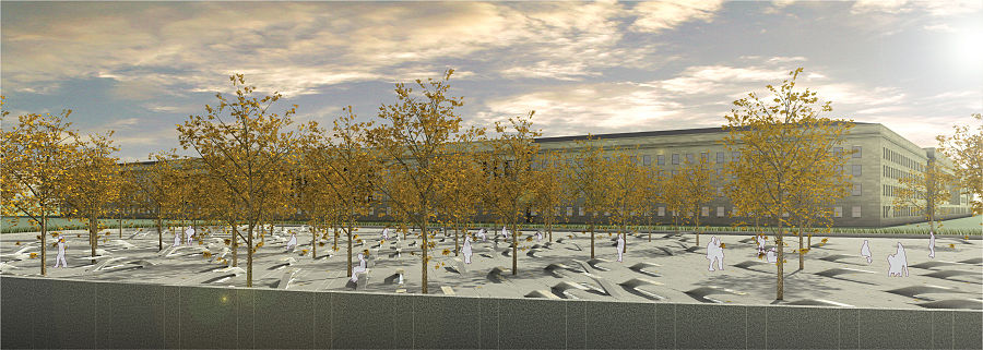 Rendering Of The Pentagon Memorial