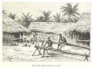 Anyi people - Anyi village, 1892