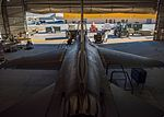 Phase technicians from the 455th Expeditionary Aircraft Maintenance Squadron work on an F-16C Fighting Falcon during routine phase maintenance at Bagram Airfield, Afghanistan (27061454801).jpg