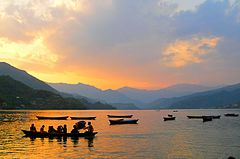 Phewa Lake at sunset.jpg
