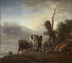 Landscape with Packhorses