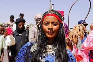 Toubou people - Toubou (Gorane) woman in traditional attire