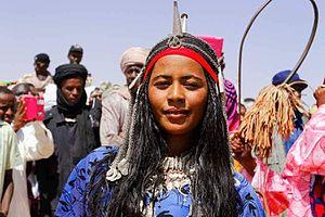 Toubou people - Toubou (Gorane) woman in traditional attire