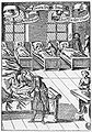 Physician in hospital sickroom printed 1682.jpg