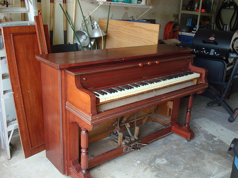 Piano case reed organ, removed a front panel, preparing for Noise Boundary music ensemble.jpg