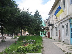 Pidhayci central square.jpg