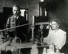 Pierre and Marie Curie in their Paris lab.