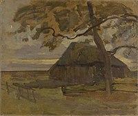 Piet Mondriaan - Sheepfold with tree at right - 0334276 - Kunstmuseum Den Haag.jpg