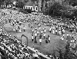ガンシュムエルキブツでのシャブオット(七週祭=ユダヤ教の収穫祭)、1959年
