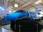 Pilatus PC-24 mock-up on display in Exhibition Hall 1 during the 2015 Australian International Airshow.jpg