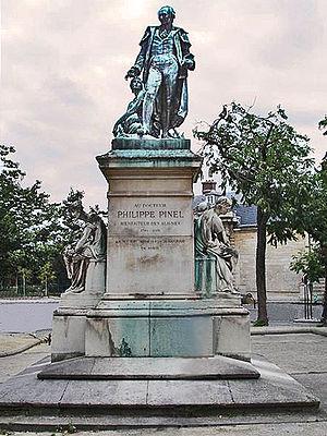 Pitié-Salpêtrière Hospital - Image: Pinel statue, Salpetriere, Paris