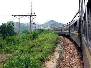 Pinghu–Nanshan Railway - Passenger train on Pingnan railway
