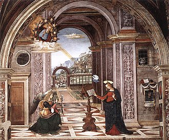 Baglioni Chapel - The Annunciation.