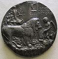 Pisanello, medaglia di leonello d'este, 1444, recto con leone e amore.JPG