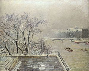 The Louvre, Morning, Effect of Snow (Second Series)