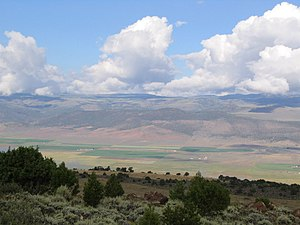 Grass Valley and the Sevier Plateau from SR-25