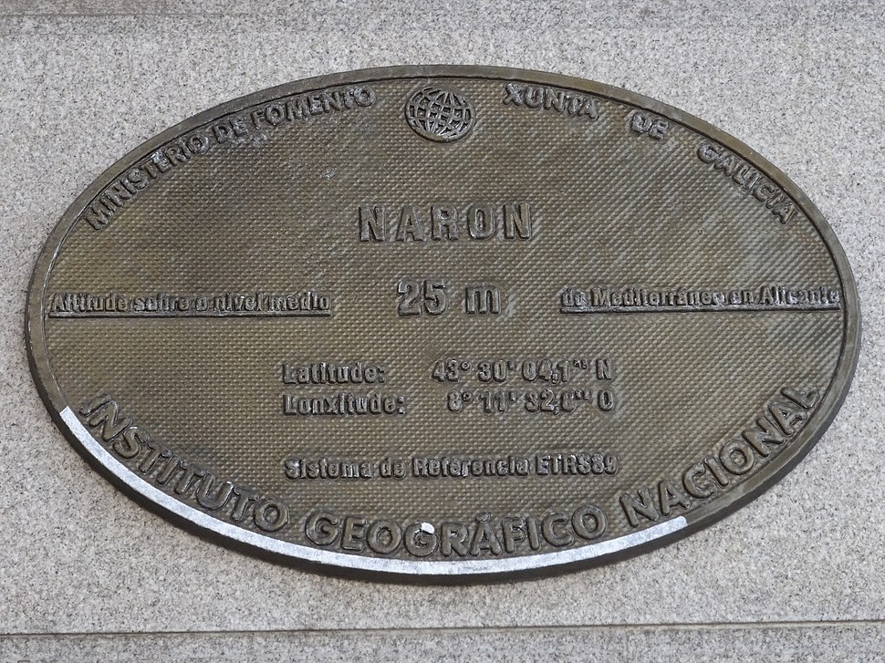 Placa altimétrica do concello.
