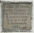 Plaque on the old British School in Llanferres - geograph.org.uk - 21500.jpg