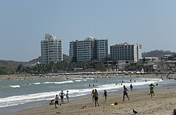 A beach in Playas