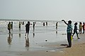 Playful People with Sea Waves - New Digha Beach - East Midnapore 2015-05-01 8775.JPG
