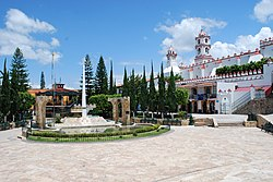 Main plaza with church