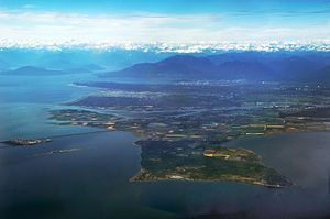 Point Roberts, Washington - Point Roberts taken from the south, looking north toward Vancouver.