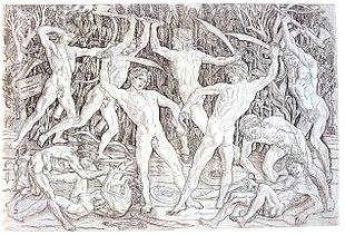 Battaglia di dieci uomini nudi, 1471-72