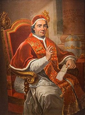 Papal conclave, 1769 - Image: Pope Clement XIV portrait in Santarcangelo di Romagna