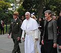 Pope Francis with Sally Jewell (21151668343).jpg