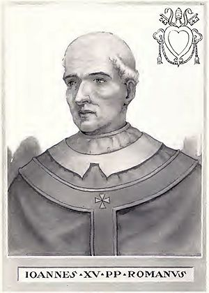 Pope John XV - Image: Pope John XV Illustration