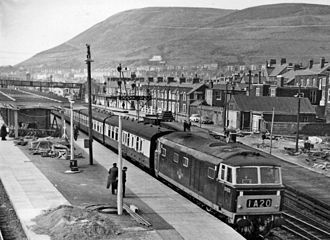 Port Talbot Parkway railway station - Down Pembroke Coast Express in 1962
