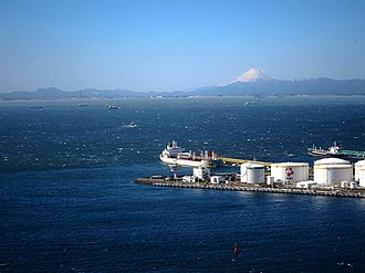 Keiyō Industrial Zone - Port of Chiba with Mount Fuji in background
