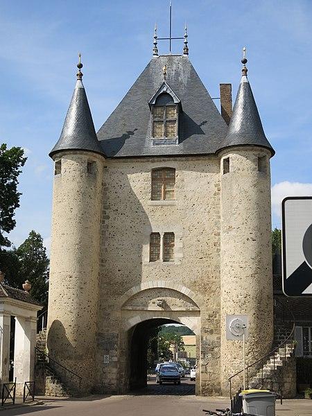 Interior view of the porte de Sens in Villeneuve-sur-Yonne (Yonne, France).