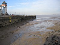 Low tide at Portishead Docks in the Bristol Channel. Such extreme tidal ranges are almost certainly due to resonant waves tapped between the coast and the edge of the continental shelf.