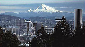 The Lathe of Heaven - Portland and Mount Hood play a central role in the setting of the novel
