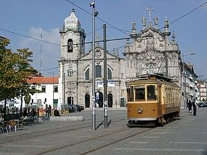 Trams in Porto - A tram on route 22 in Porto