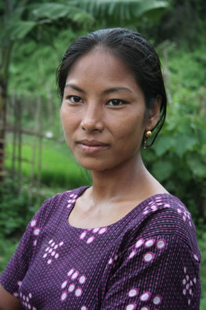 Bawm people - A Bom woman in the Chittagong Hill Tracts
